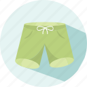 fashion, holiday, summer, swimming trunks, travel icon