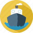 holiday, sailor, ship, summer, travel icon