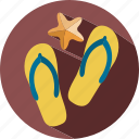 holiday, sandals, summer, travel, vacation icon