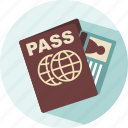 holiday, pass, pass post, summer, travel icon