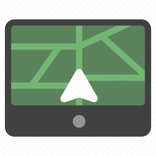 direction, gps navigator, location, map, navigate, navigation, road icon
