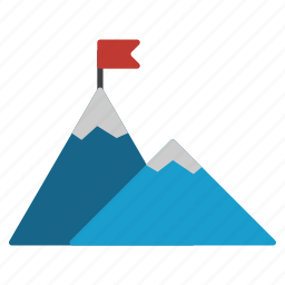 climbing, flag, icecaps, landscape, mountains, nature, picture icon