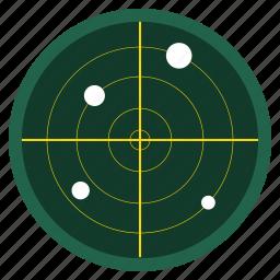 monitor, navigation, polar coordinate, radar, scanner, search, signal icon