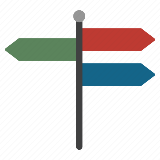 arrow, direction, location, mile stone, navigation, pointer, road icon