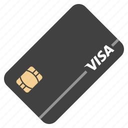 bank card, chip, debit card, finance, payment, shopping, visa icon