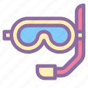 beach, scuba, travel, under water, vacation icon