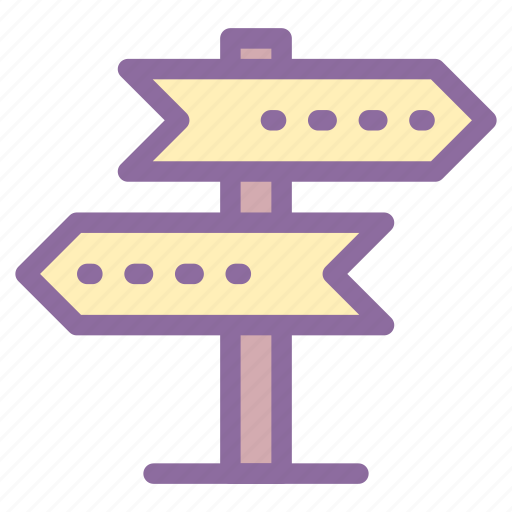 board, directions, road sign, traffic, travel icon