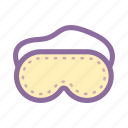 eye mask, insomnia, meditation, relax, sleep icon