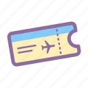 boarding pass, event ticket, flight, pass, ticket icon