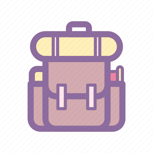 backpack, camp, hike, school, travel icon