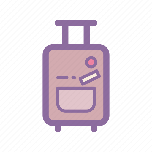 airport, baggage, carry on, luggage, suitcase, travel, trolly icon