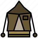 camping, forest, holidays, nature, rural, tent, woods icon