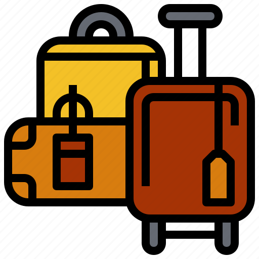 and, baggage, luggage, suitcase, tools, travel, travelling icon