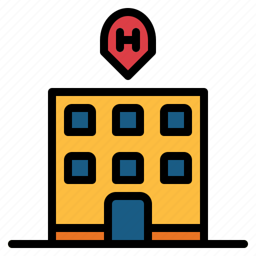building, holidays, hotel, town icon