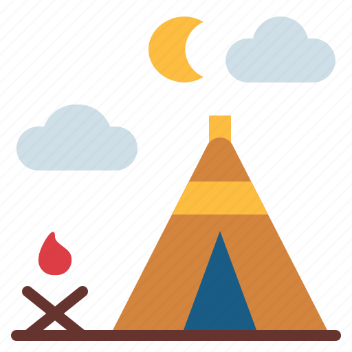 Camping, holidays, outdoor, tent icon - Download on Iconfinder