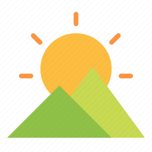 holidays, nature, sun, sunset icon