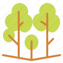 forest, landscape, nature, trees icon