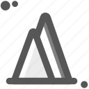 adventure, cloudy mountains, forest park, mountains, ride, tour, trip icon