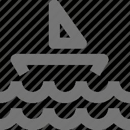 boat, holiday, ocean, sail, sea, travel, vacation, waves icon