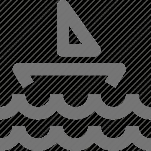 boat, ocean, sail, sailing, sea, waves icon
