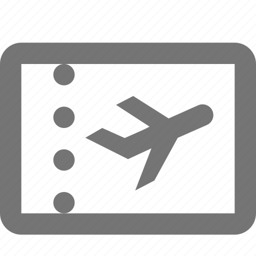 airplane, holiday, plane, ticket, transportation, travel, vacation icon