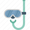 dive mask, scuba mask, snorkel, snorkel mask, swimming icon