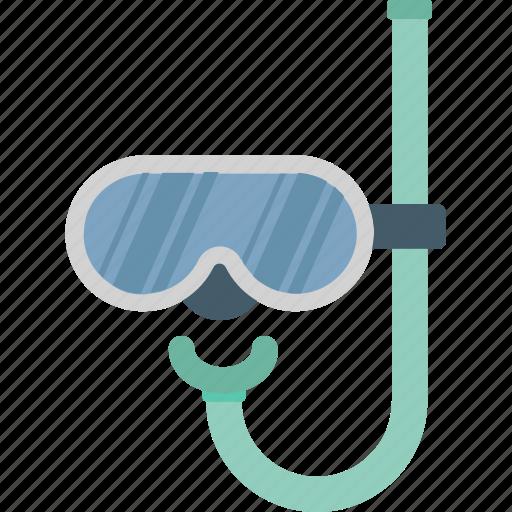 dive mask, scuba mask, snorkel, snorkel mask, swimming icon