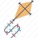 entertainment, fly kiting, kite, kite flying, kiting, wind kite icon