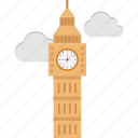 big ben, clock tower, elizabeth tower, london clock tower, monument icon