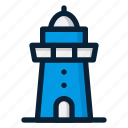 building, lighthouse, navigation icon