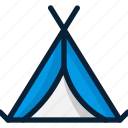 camp, tent, wigwam