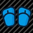 flipflop, footwear, sandal icon
