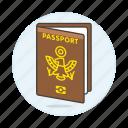 abroad, international, journey, open, overseas, passport, travel, trip icon