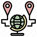 map, world, route, location, navigation