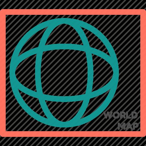 internet, online, travel, web, wide, world, world map icon
