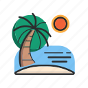 .svg, beach, sea, summer, sun icon