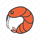 .svg, food, sea, shrimp icon