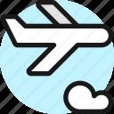 plane, trip, cloud