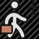 plane, trip, person