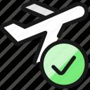 plane, trip, take, off, check