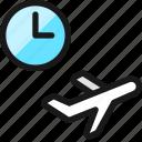 plane, trip, take, off, time