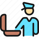 security, officer, luggage