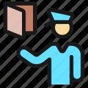 security, officer, passport