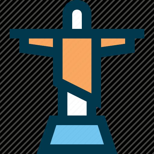 janeiro, jesus, landmark, rio, rio de janeiro, statue, travel icon