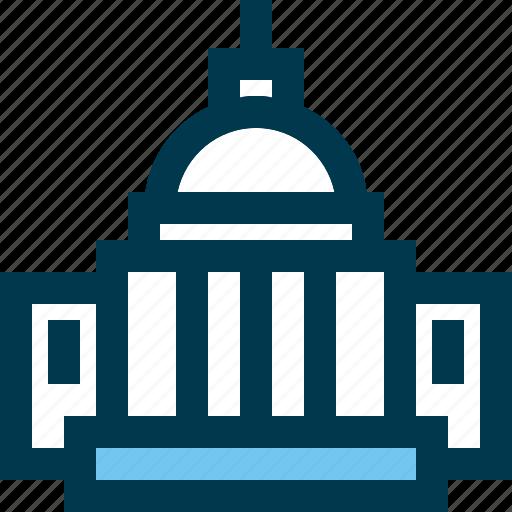 capitol, landmark, travel, usa icon