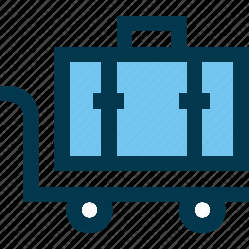 bag, case, hotel, travel, trolley icon