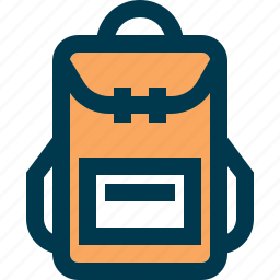 backpack, pack, tourist, travel, trip icon