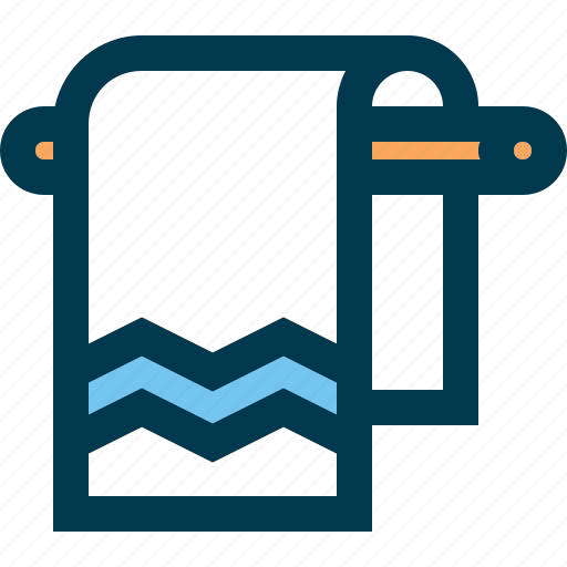 bathroom, beach, hotel, pool, towel icon