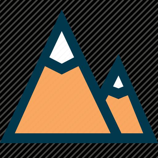 alpinism, hill, mountain, rock, rock climbing icon