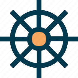 helm, ship, steering wheel, travel, wheel icon